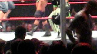 WWE Raw live at Cardiff 10/11/09. Ted Dibiase caught with his pants down Very Funny width=