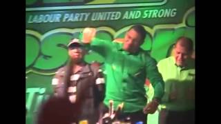 Daryl Vaz and Desmond McKenzie Take On The PNP At A JLP Mass Rally In Richmond St Mary