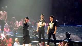 Vanilla Ice makes an appearance at the NKOTB The Package Tour ~ July 19, 2013