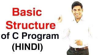 Basic Structure of C Program (HINDI) width=