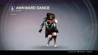 Destiny Crimsion Days Emotes: Awkward Dance