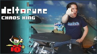 DELTARUNE - Chaos King On Drums! -- The8BitDrummer