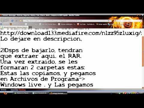 Solucion al ERROR DEL MSN 8007007e