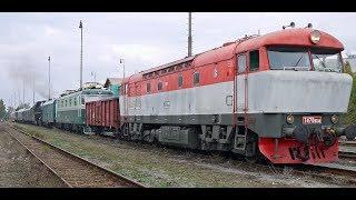 """Převoz parní lokomotivy """"Štokr"""" (556.0506) a dalších vozidel na Národní den železnice 2017"""