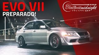 Evo VII: LANCER EVOLUTION 7 PREPARADO para track days na noite de SP! FlatOut Midnight