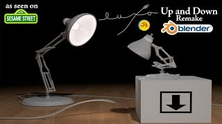 Luxo Jr. in Up and Down Blender Remake