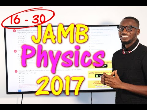 JAMB CBT Physics 2017 Past Questions 16 - 30