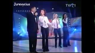Giulia, Monica, Selena (Trupa Candy) si Dan Spataru (martie 2002)