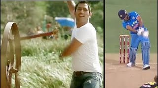 Cricket Funny Pepsi Commercial ads of Cricketers Signature Shots width=