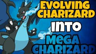 Pokémon Evolution - Evolving Charizard into Mega Charizard X - Pocketown