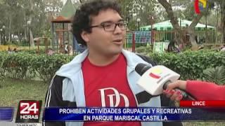 Lince: vecinos en contra de restricción de ordenanza en parque Castilla (2/2)