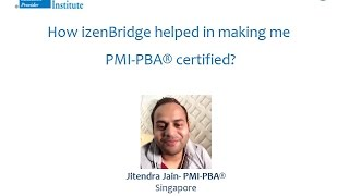 Participant - Jitendra Jain : Certified Professional in Business Analysis - PMI-PBA®