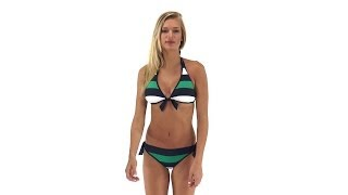 Tommy Bahama Mare Rugby Stripe Reversible Halter Top | SwimOutlet.com