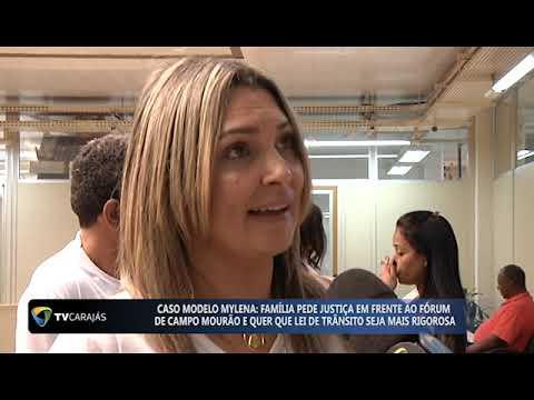Entrevista dos pais da modelo Mylena no Fórum de Campo Mourão para TV Carajás