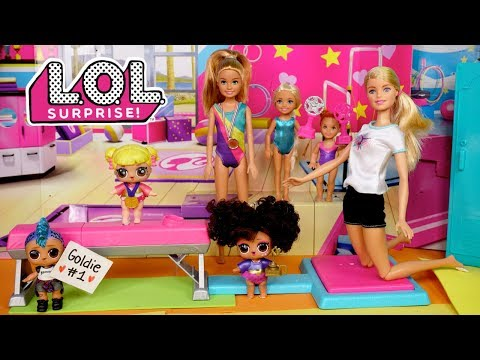 Download Video Barbie LOL Doll Family Gymnastics Competition Routine With Baby Goldie