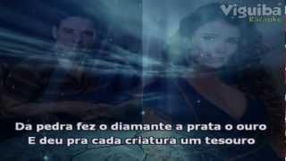 (Karaokê ) Criação Divina - Zezé de Camargo e Paula Fernandes