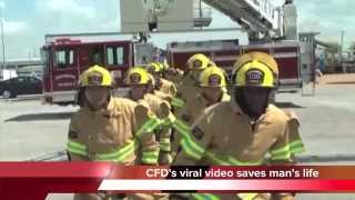 Staying Alive firefighters music video saves a man's life