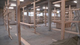 Erster Blick ins neue Bootshaus