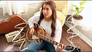 CLAIRO 4EVER (electric guitar cover by annie green) with lyrics and chords!