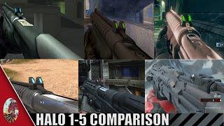 Halo 1-5 Shotgun Comparison (All Halo Games Included)