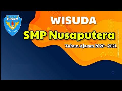 Wisuda online SMP Nusaputera tahun ajaran 2020/202
