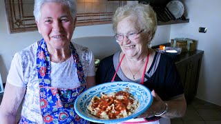 Pasta Grannies discover 'dorës' spaghetti style pasta from Basilicata
