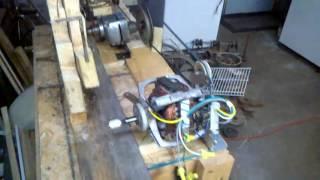 "Homemade ""marble machine"" using golf balls lifter test 1"