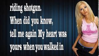 Christina Aguilera - Shotgun (Lyrics)