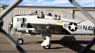 North American T-28 Trojan airplane starting engine