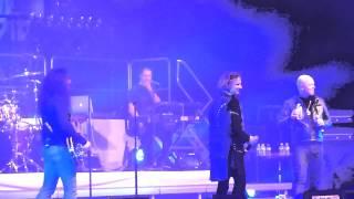 Avantasia - Michi telling a secret about Tobi - Live PPM Festival Mons 2013