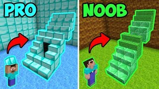 MINECRAFT NOOB VS PRO: ESCALERAS TRAMPA DE PARKOUR 😯 NOOB VS CARRERA CON TRAMPAS 💎