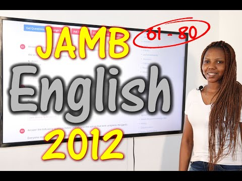 JAMB CBT English 2012 Past Questions 61 - 80