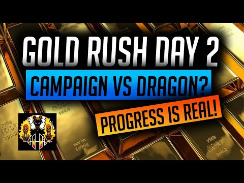 RAID: Shadow Legends | GOLD RUSH DAY 2 UPDATE IM IN SILVER 1!, WHERE SHOULD I FARM GEAR??!