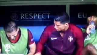 Cristiano Ronaldo funny - Portugal 1 vs 0 France ( gol Eder ) Euro 2016