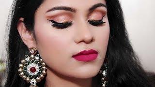 Eid Makeup Tutorial 2018 In Hindi| Easy Soft Cut Crease