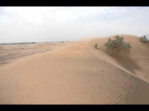 Sandstorm in the Moroccan desert