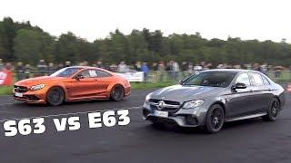Mercedes-AMG E63S 4.0L Biturbo vs S63 AMG vs GT-R