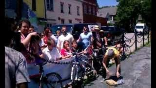 HolyShit! Superhuman - Wall Backflip over four people - Allentown Art Festival 2012, Buffalo NY
