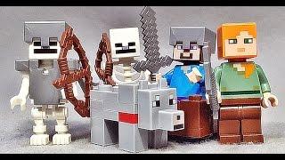 레고 마인크래프트 늑대,철갑옷 스켈레톤,스티브,알렉스 21121 사막 기지 미니피겨 LEGO Minecraft The Desert Outpost