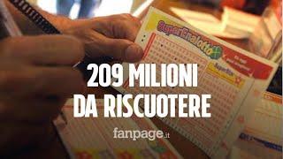 Superenalotto, la vincita record da 209 milioni non è stata incassata: ecco cosa può accadere