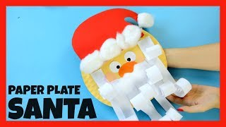 Santa Paper Plate Craft for Kids - fun Christmas crafts for kids