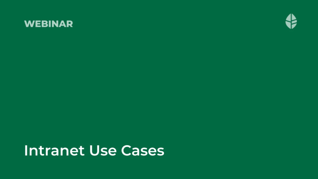 Intranet Use Cases