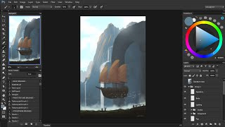 Digital Painting Timelapse | Day 16 - Departure