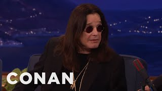 Ozzy Osbourne Accidentally Texted Robert Plant Looking For His Cat  - CONAN on TBS