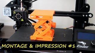 IMPRESSION 3D  #CREALITY ENDER   Montage & démarrage