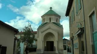 FRANCE St. Jean-Marie Vianney basilica at Ars-sur-Formans (HD-video).mp4