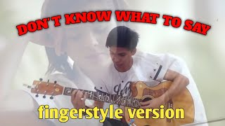 Ric Segreto- Don't Know What To Say (fingerstyle version)