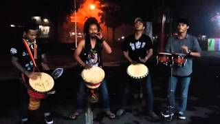 Dellu uyee jaming percussion (djembe)