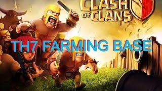 Clash Of Clans- BEST TH7 FARMING BASE