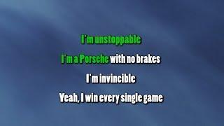 Sia - Unstoppable ( Karaoke/Instrumental )